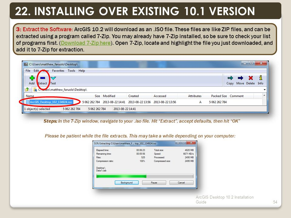 ArcGIS Desktop 10.2 Installation Guide54 22.