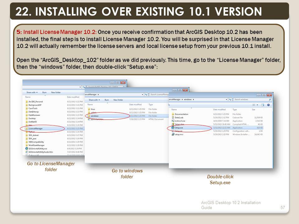 ArcGIS Desktop 10.2 Installation Guide57 22.