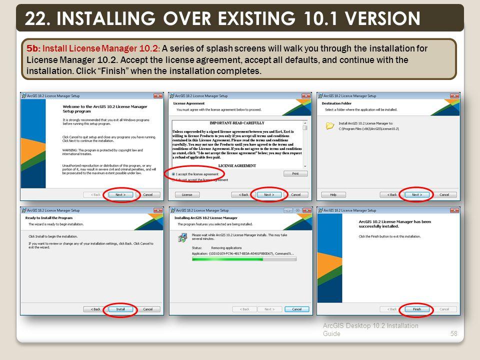 ArcGIS Desktop 10.2 Installation Guide58 22.