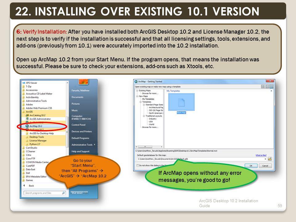 ArcGIS Desktop 10.2 Installation Guide59 22.