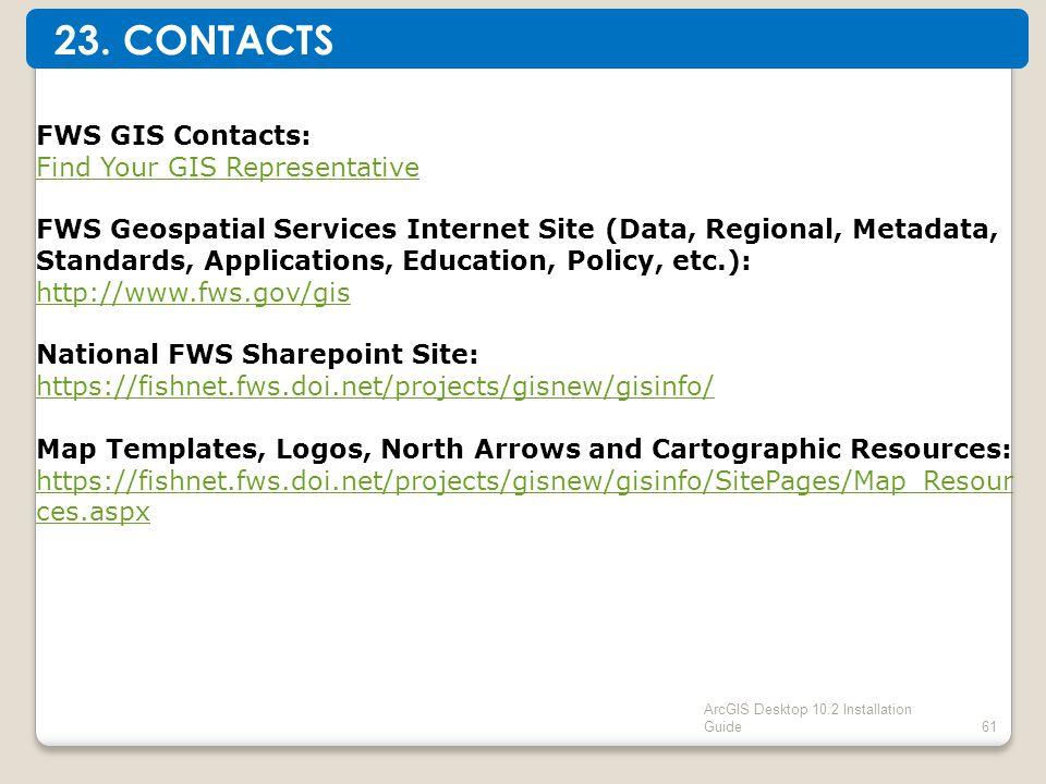 ArcGIS Desktop 10.2 Installation Guide61 23.
