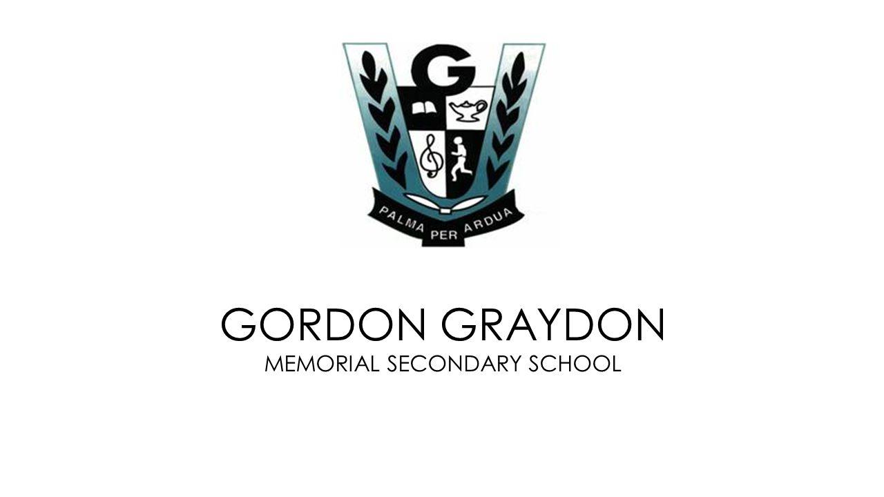 LAPTOP PROGRAM GORDON GRAYDON MEMORIAL SECONDARY SCHOOL