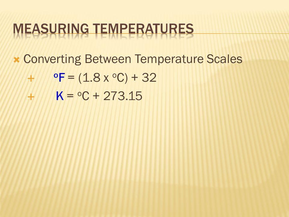  3 scales  Fahrenheit  Celsius  Kelvin