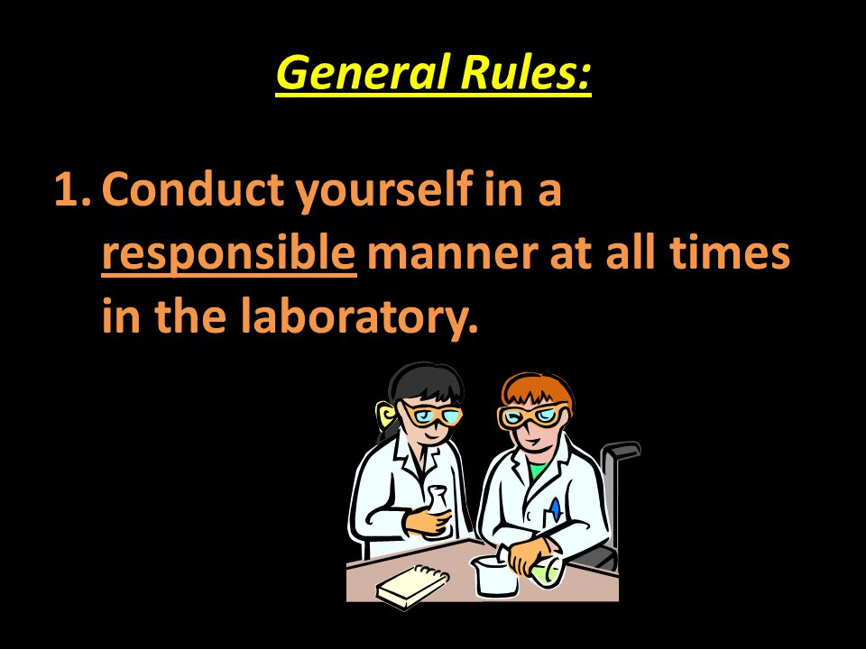 General Rules: 21.
