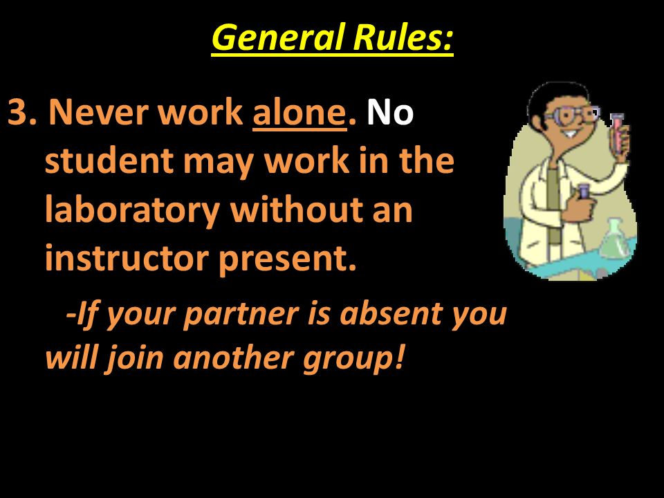 General Rules: 4.