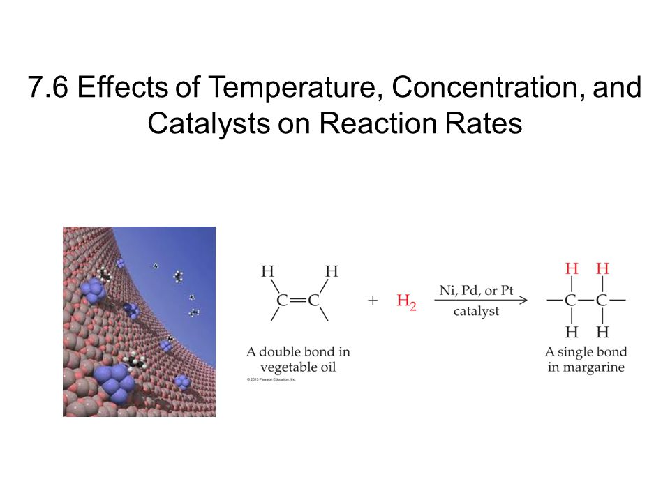 7.6 Effects of Temperature, Concentration, and Catalysts on Reaction Rates