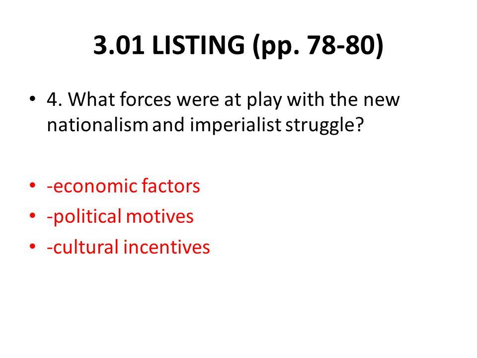 3.01 LISTING (pp. 78-80) 4.