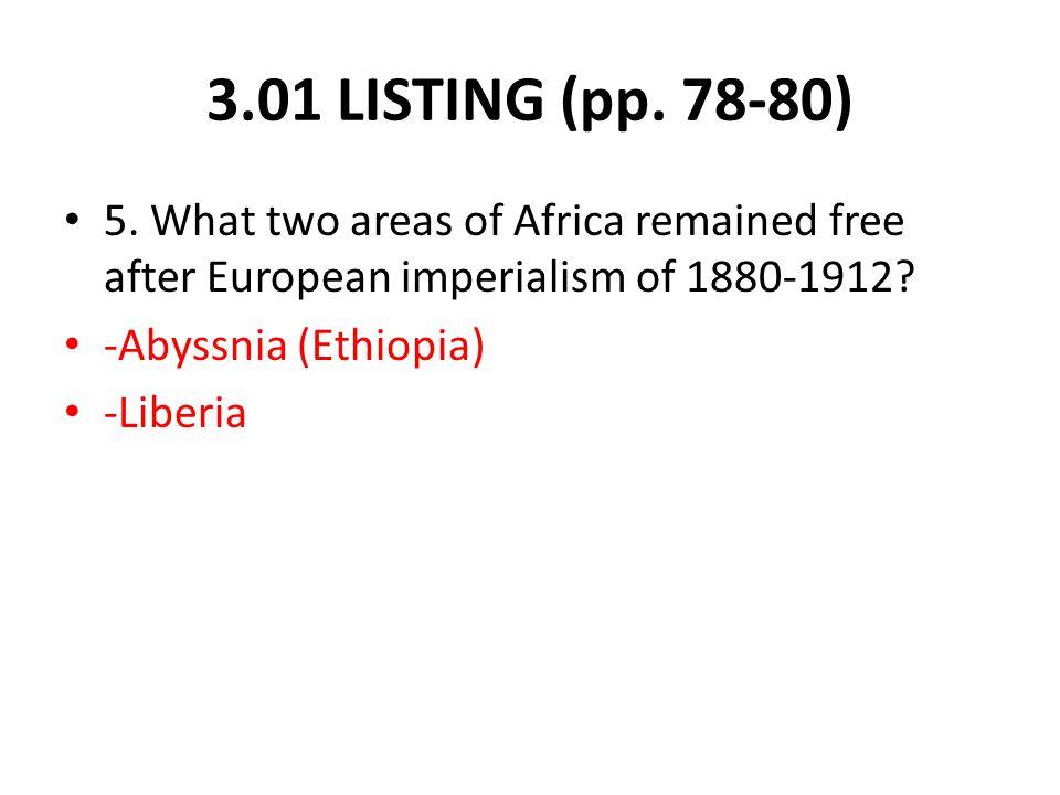 3.01 LISTING (pp. 78-80) 5.