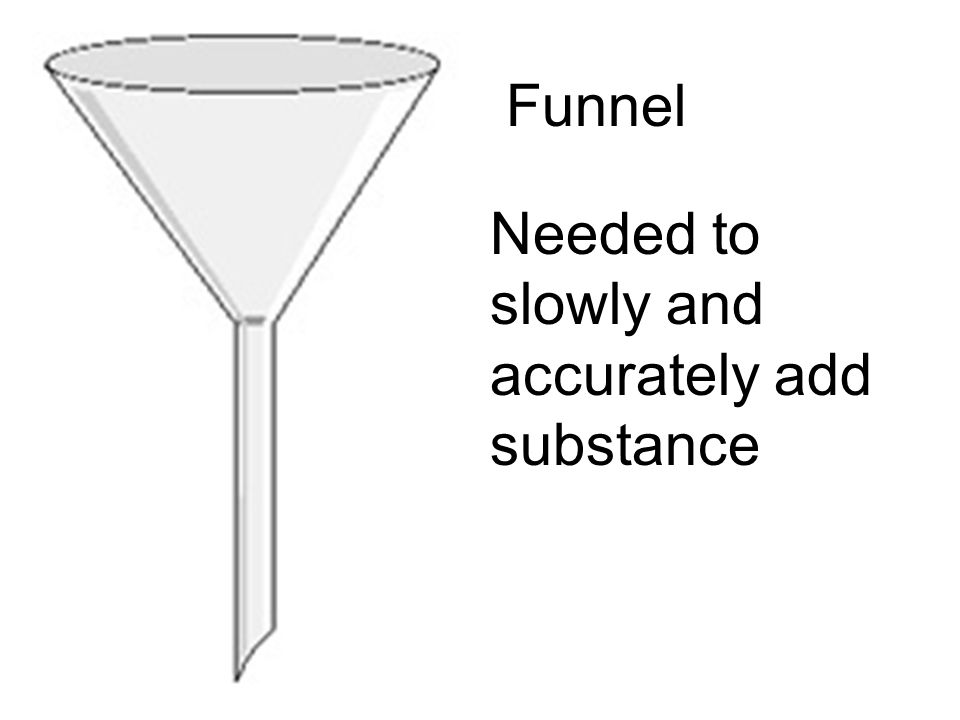 Funnel Needed to slowly and accurately add substance