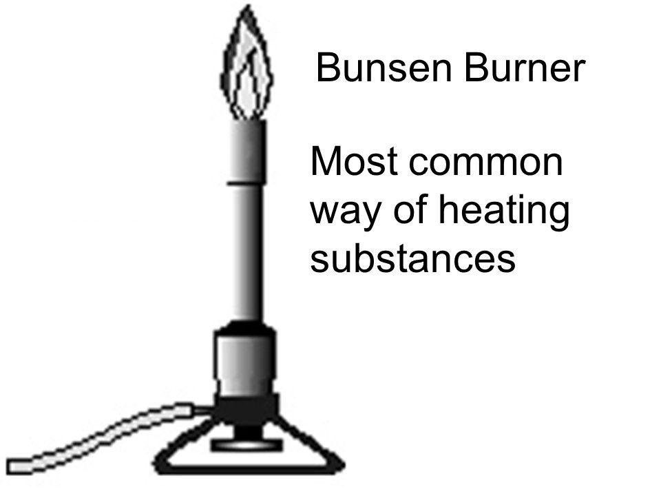 Bunsen Burner Most common way of heating substances