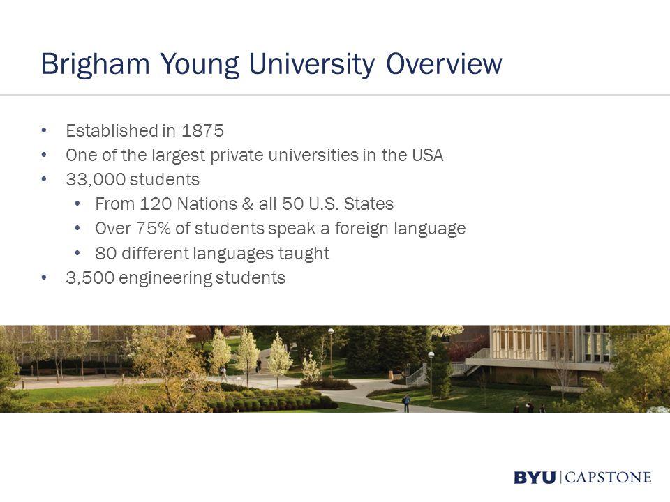 Brigham Young University Capstone Program College Of Engineering - Largest universities in usa