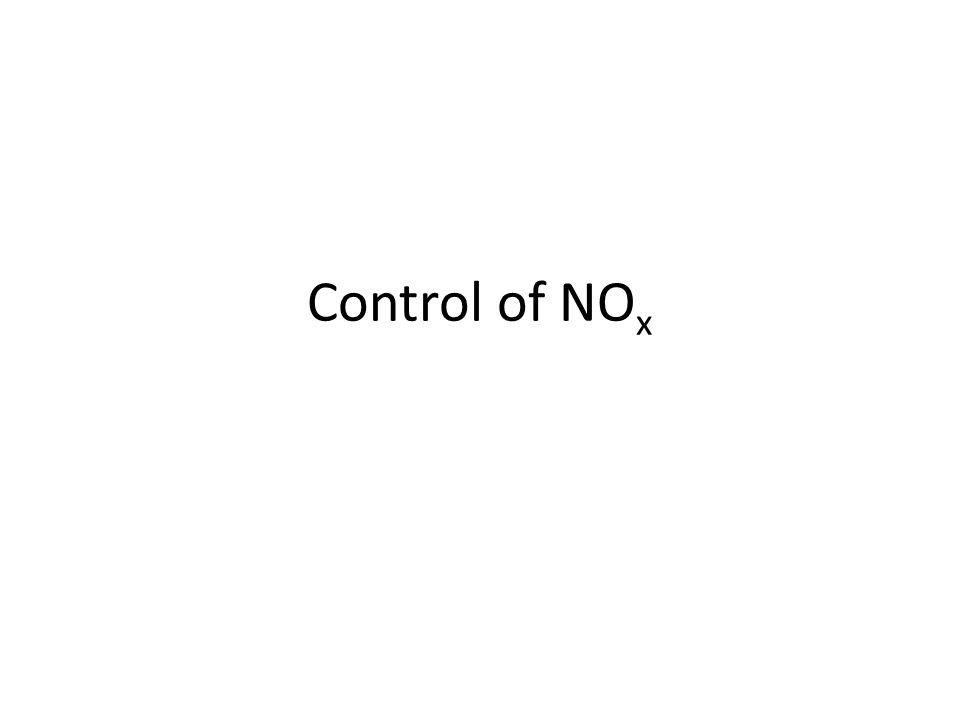 Control of NO x