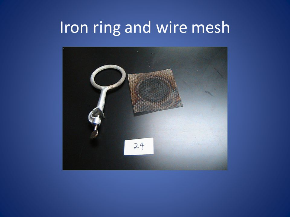 Iron ring and wire mesh