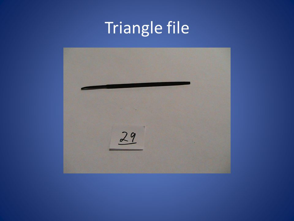 Triangle file