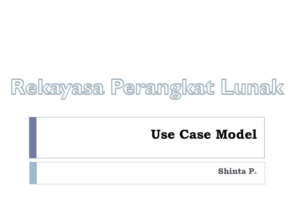 Use Case Model Shinta P.