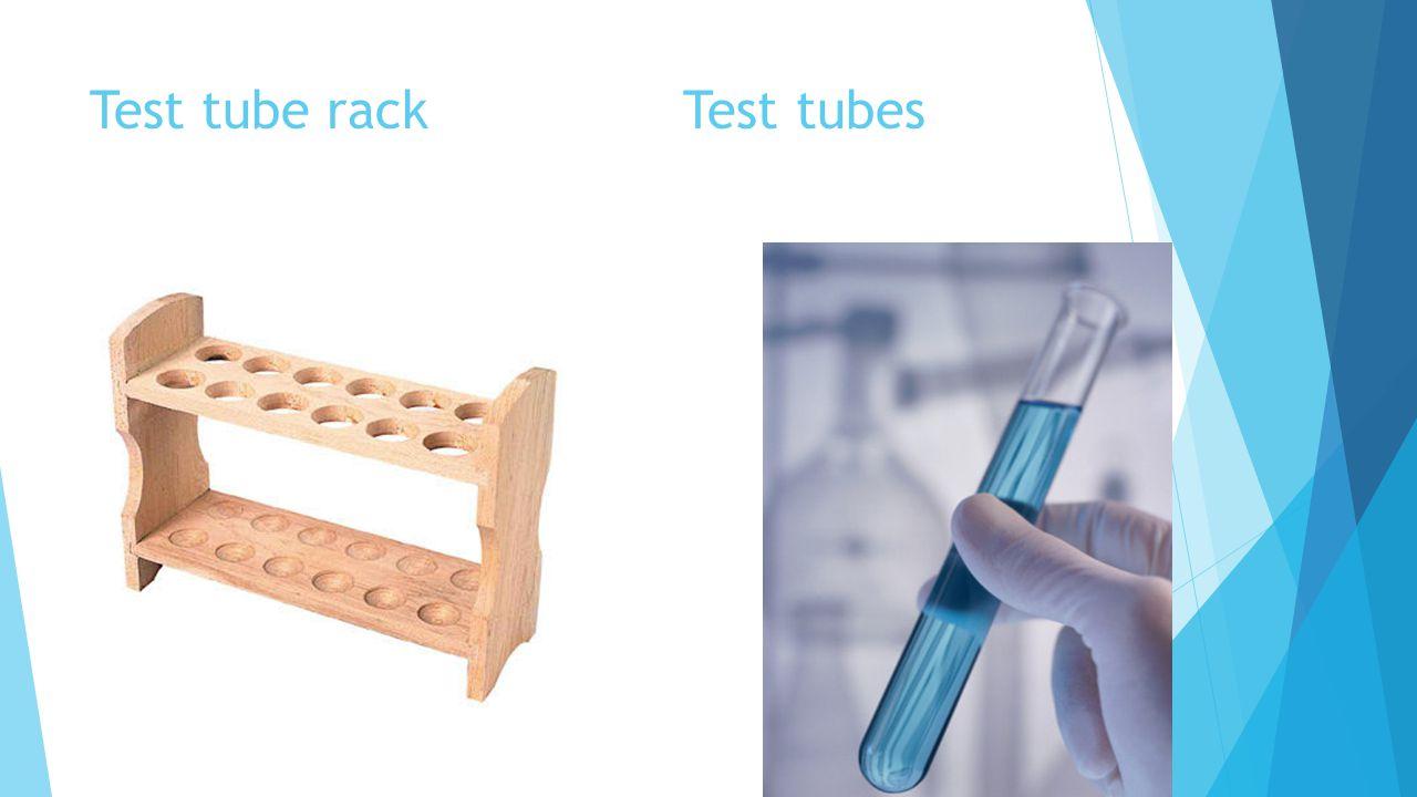 Test tube rack Test tubes