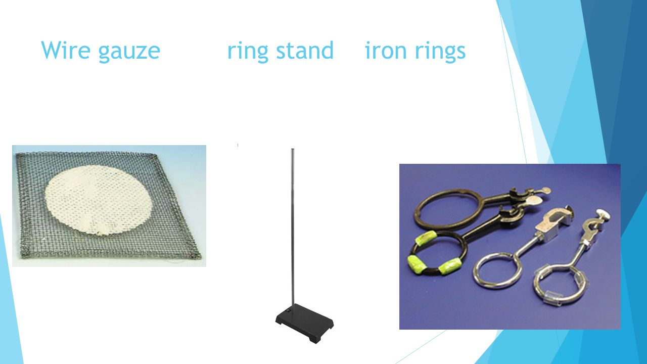 Wire gauze ring stand iron rings