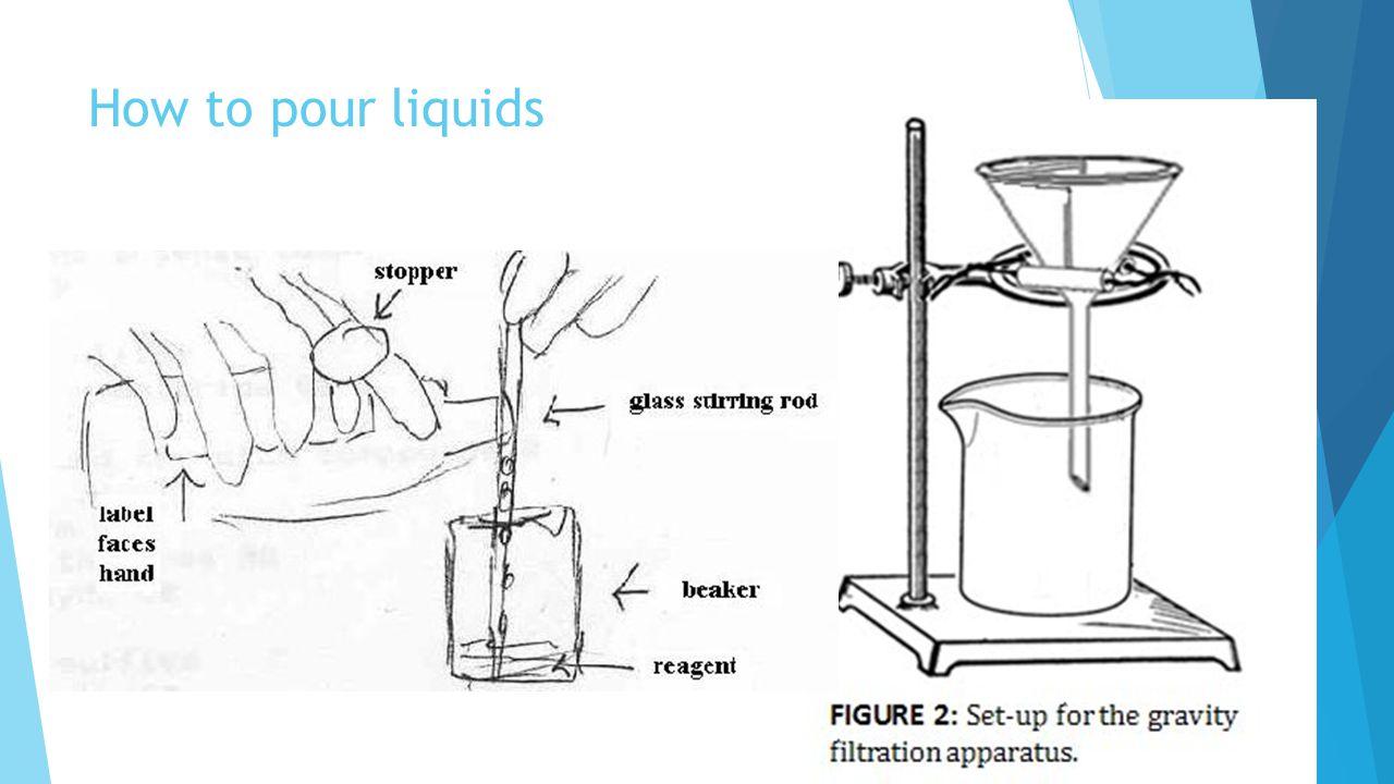 How to pour liquids