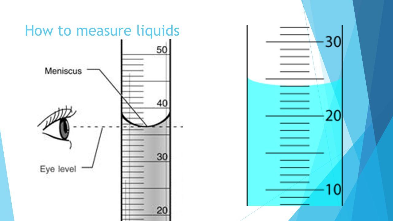 How to measure liquids