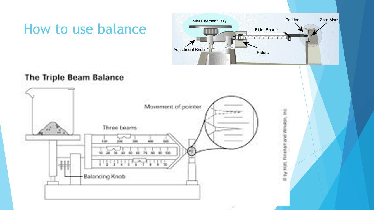 How to use balance
