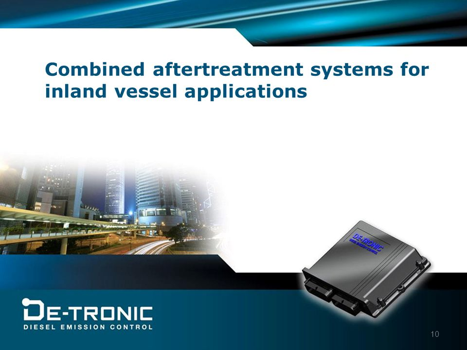 10 Combined aftertreatment systems for inland vessel applications