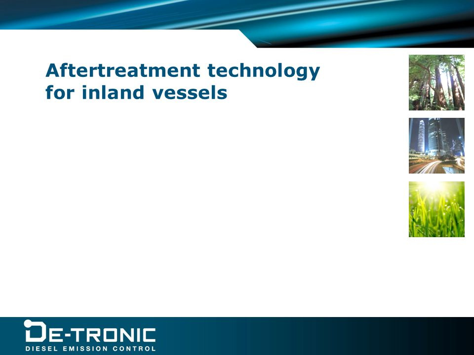 Aftertreatment technology for inland vessels