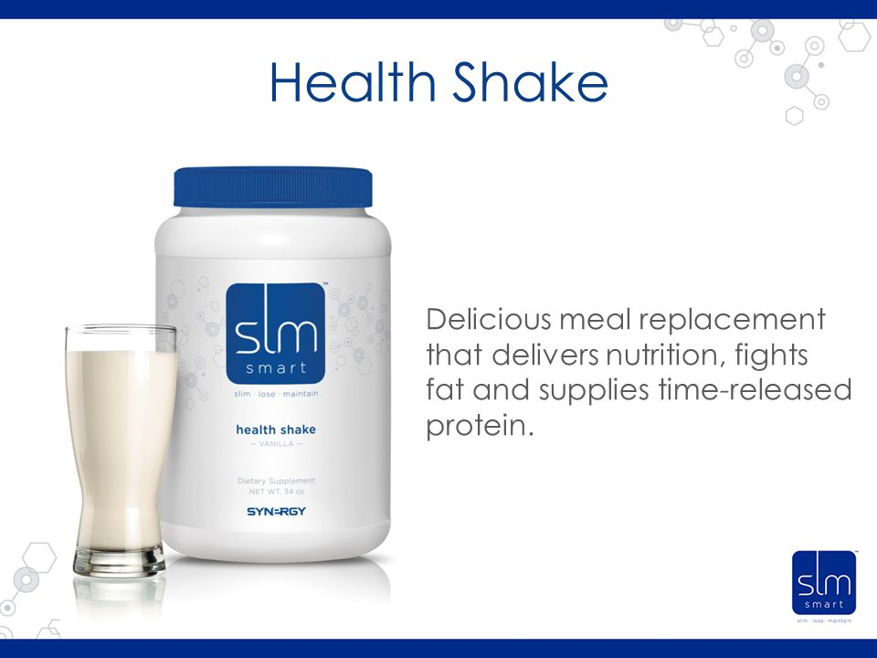 Health Shake Delicious meal replacement that delivers nutrition, fights fat and supplies time-released protein.