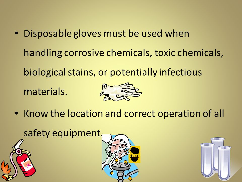 The most common type of student injury is a burn caused by touching objects that have just been heated.