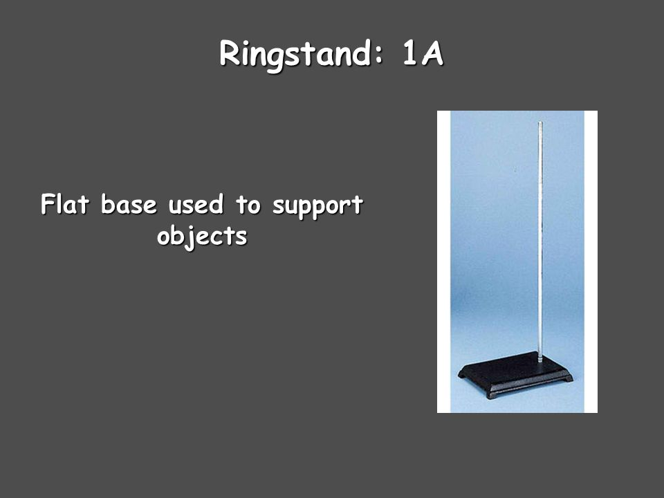 Ringstand: 1A Flat base used to support objects