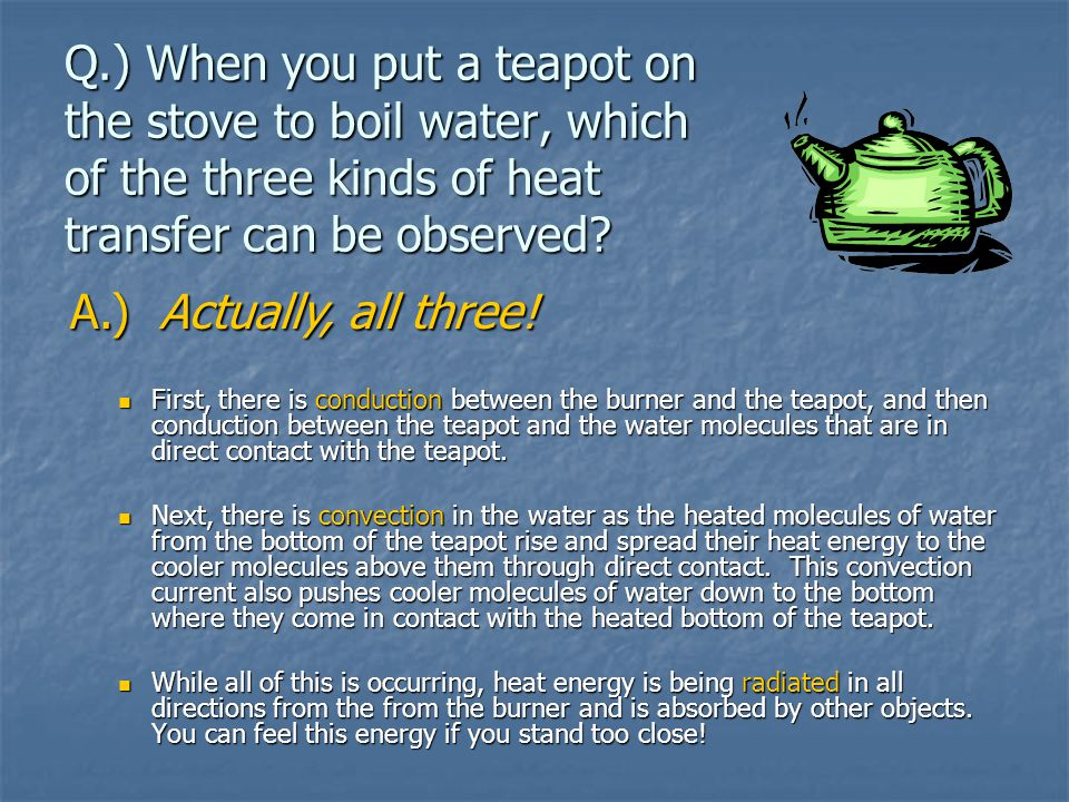 Radiation Heat transfer through open space.Travels through gas or empty space.
