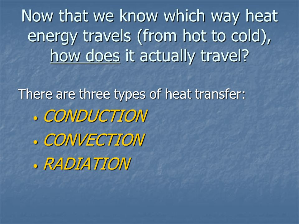 Things that affect heat transfer: Thermal Insulators: Substances that do not transfer thermal energy very well.