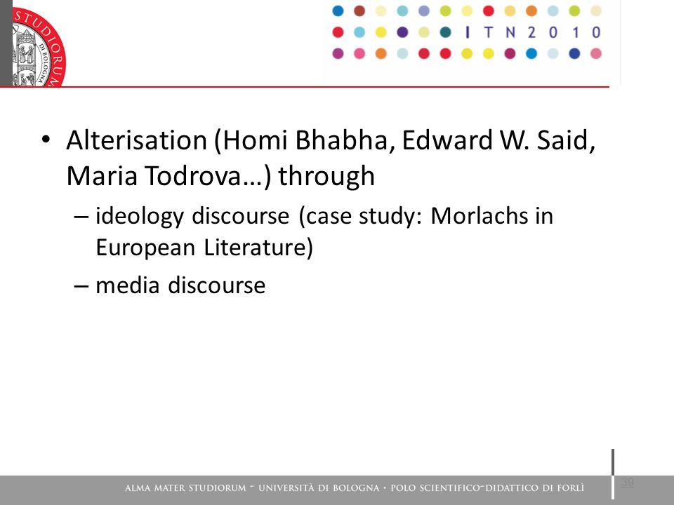 Alterisation (Homi Bhabha, Edward W.