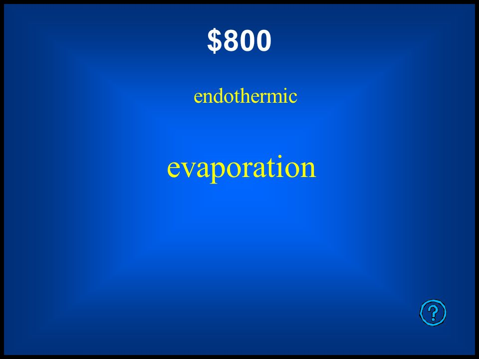 $600 endothermic sublimation