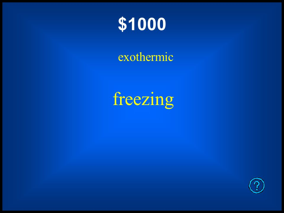 $800 endothermic evaporation