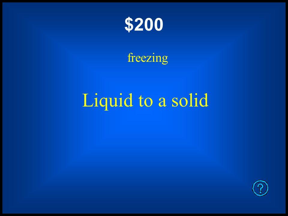 $1000 exothermic freezing