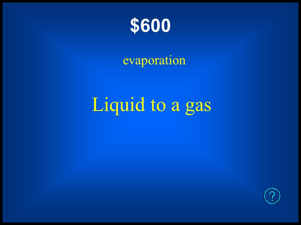 $400 deposition Gas to a solid