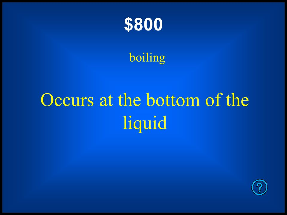$600 evaporation Occurs below the boiling point