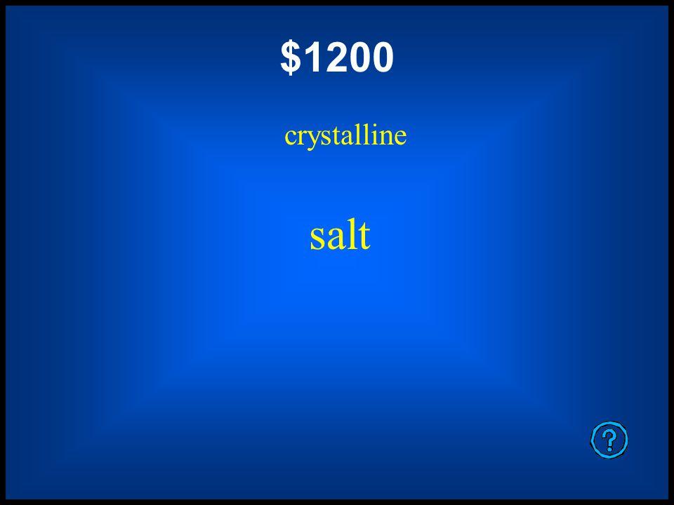 $800 crystalline snowflake