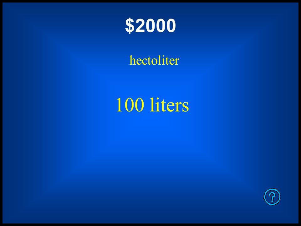 $1600 meter 100 centimeters