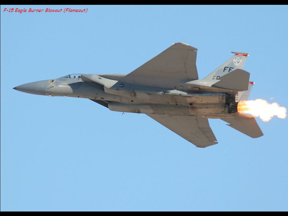 F-15 Eagle Burner Blowout (Flameout)