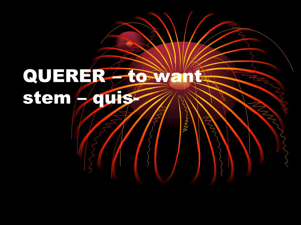 QUERER – to want stem – quis-