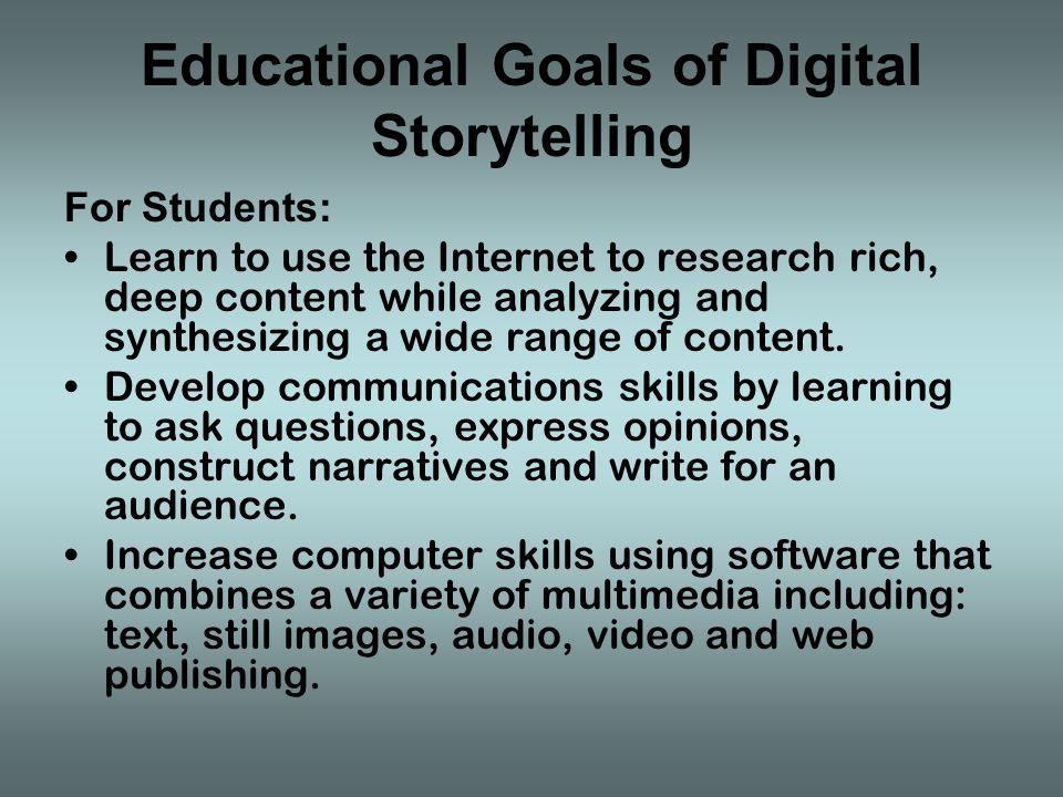 University of Houston, The Educational Uses of Digital Storytelling