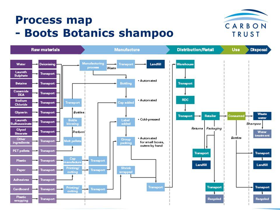 Process map - Boots Botanics shampoo