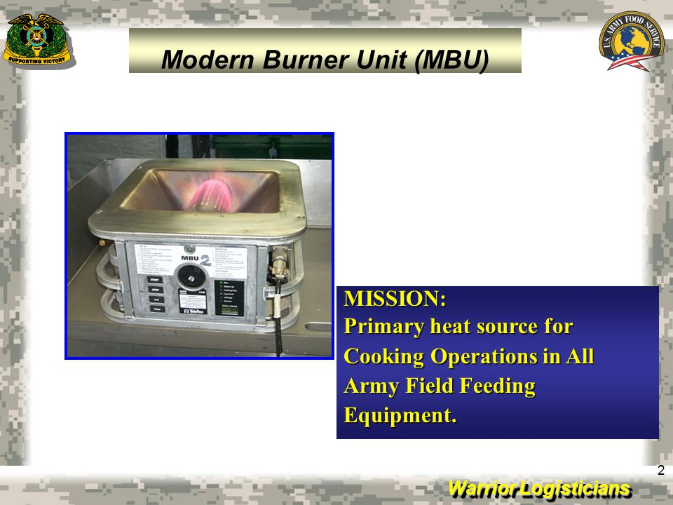 Warrior Logisticians 13 Objective: –Develop a highly mobile multi- temperature partitioned refrigerated container system that provides simultaneous transport of frozen and chilled/semi-perishable rations on a single platform directly to the field kitchen site Capability Provided: –Multi-temperature product storage with two custom selectable/individually controlled compartments with setpoints ranging from -5˚F/-20.6°C to 60˚F/15.6°C –Operation on the move –Enable both military and commercial transportation.