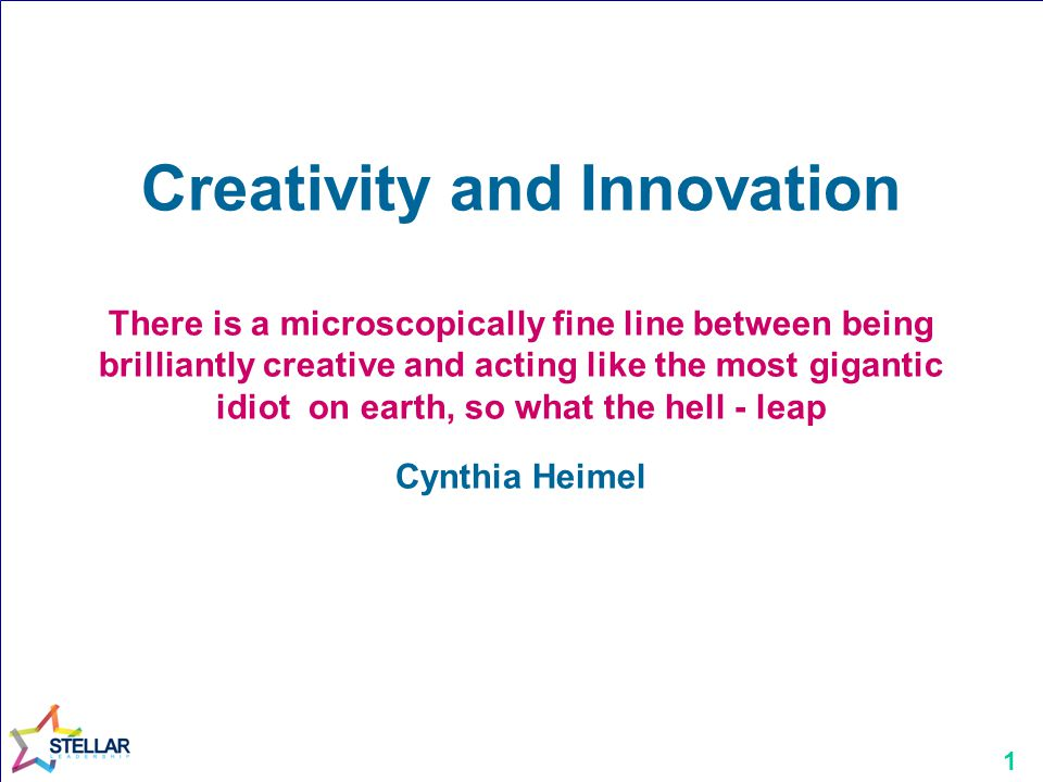 12 Creative Icons Identify a creative icon Why are they creative? How does this relate to you? Why?