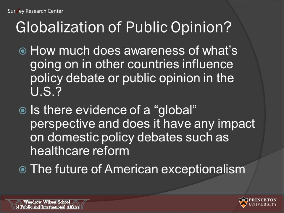 Globalization of Public Opinion.