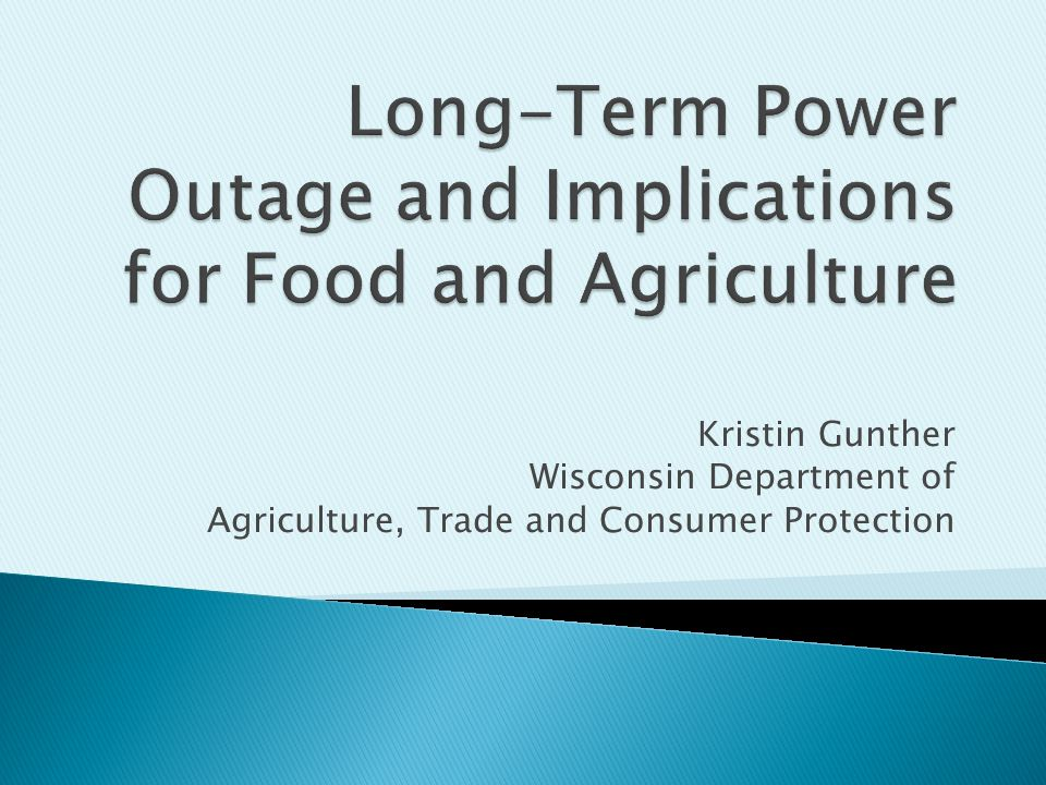 Kristin Gunther Wisconsin Department of Agriculture, Trade and Consumer Protection