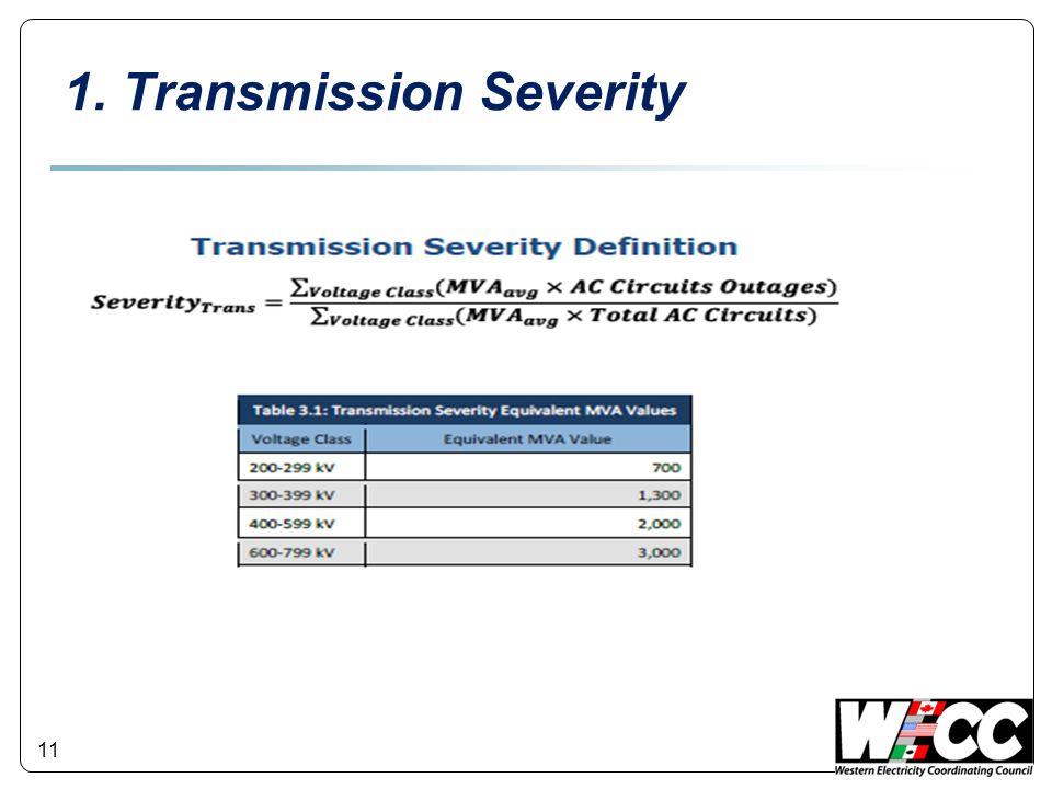 11 1. Transmission Severity