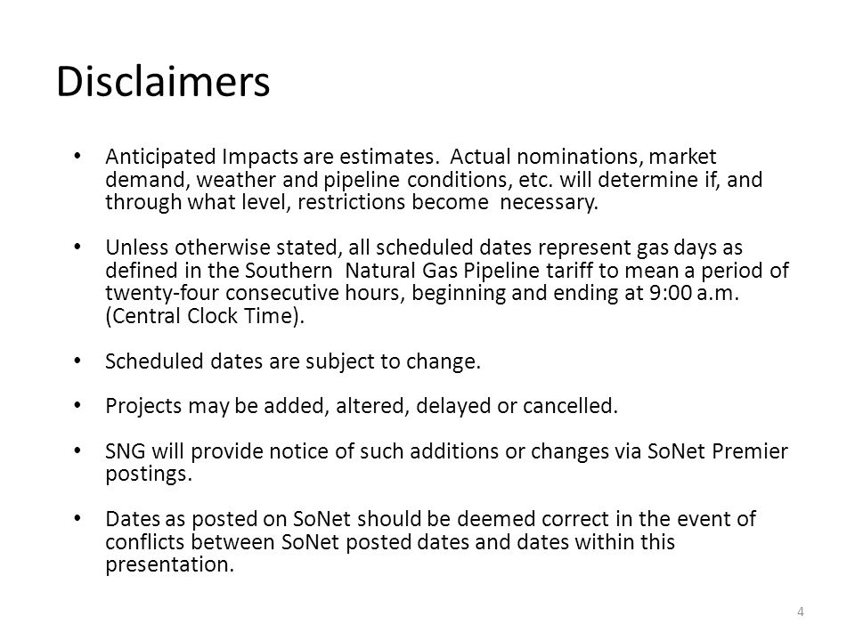 Disclaimers Anticipated Impacts are estimates.