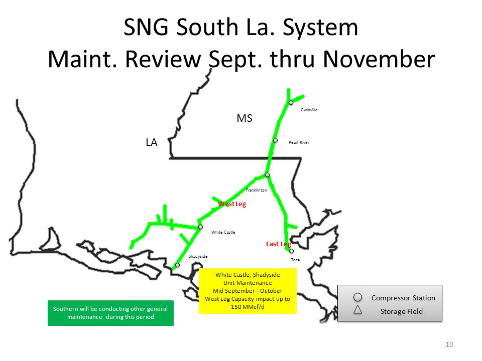 SNG South La. System Maint. Review Sept.